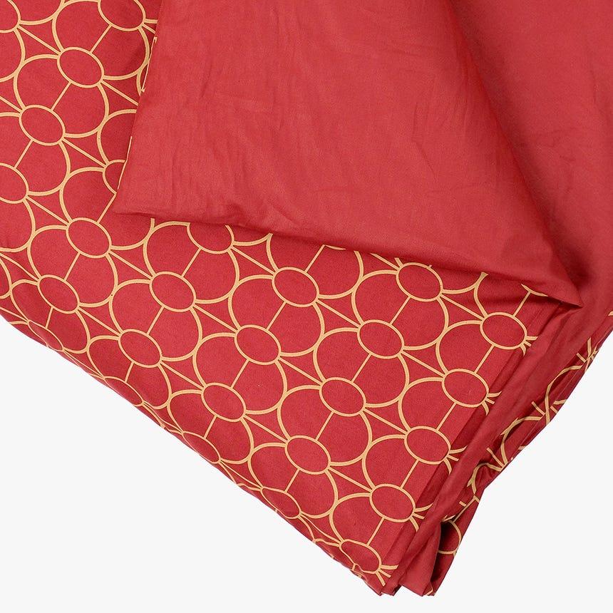 Saco de Edredão Geométrico Vermelho 140x200 cm