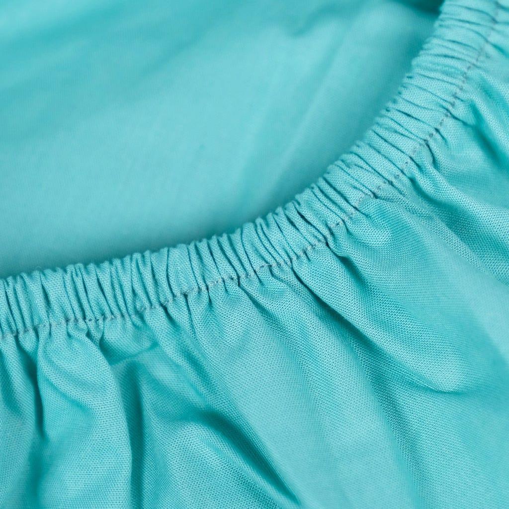 Lençol Ajustável Percal Verde 160x200+30 cm