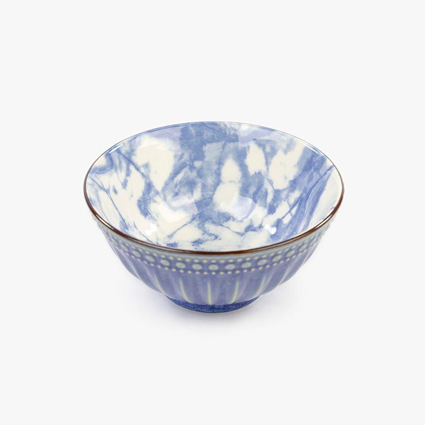 Taça Marmoreada Azul 15 cm
