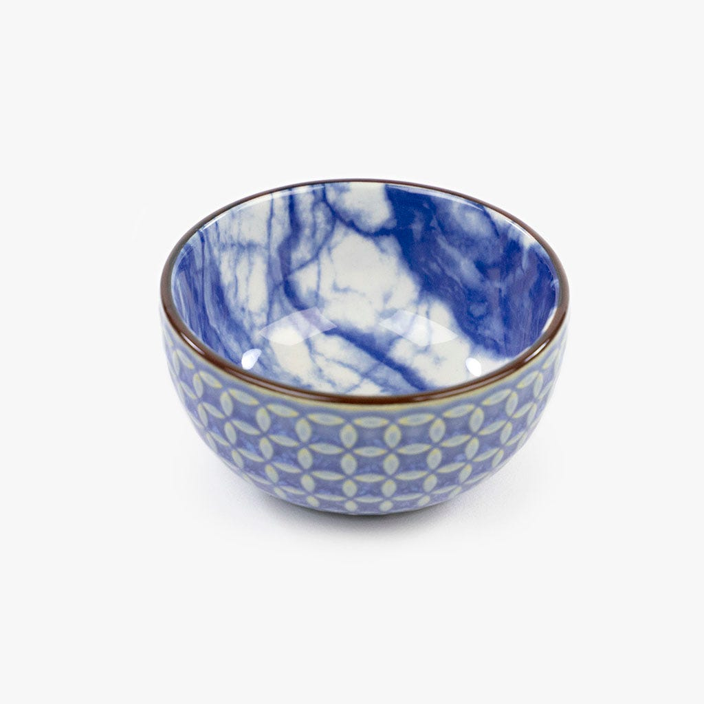 Taça Marmoreada Azul 7.6 cm