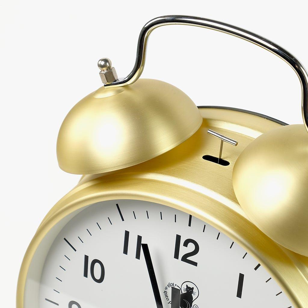 Relógio Despertador Dourado
