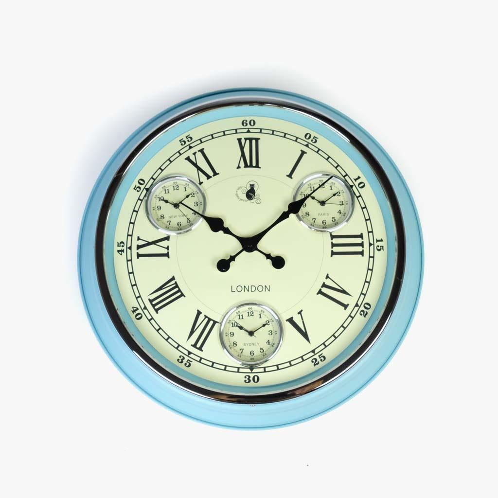 Relógio de Parede verde51X51 cm