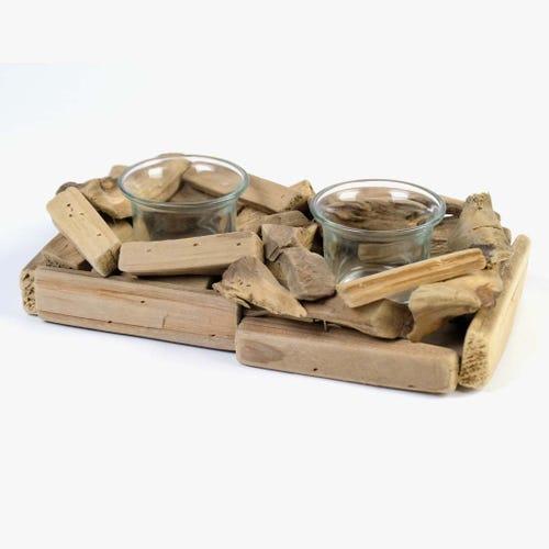 Suporte tealight troncos 24 cm