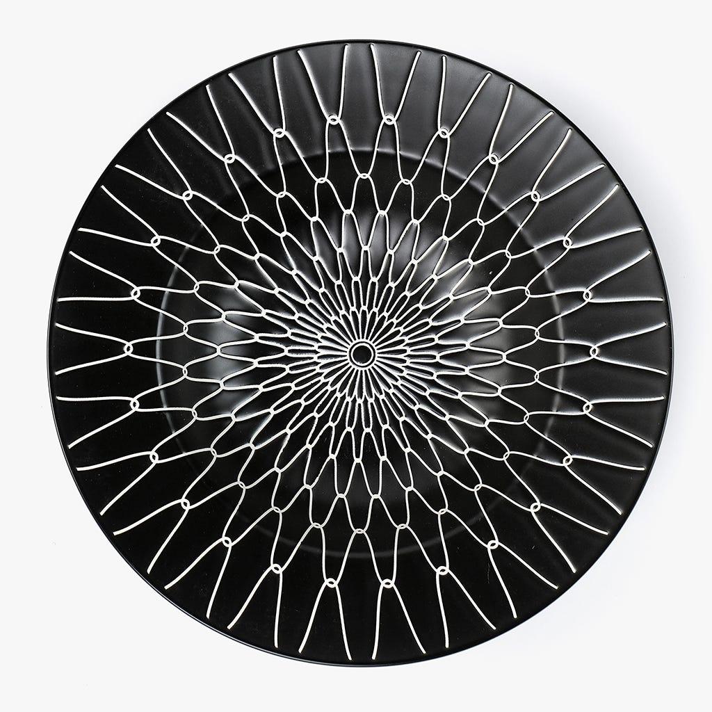 Prato de Sopa Cosmos Preto 26,6 cm