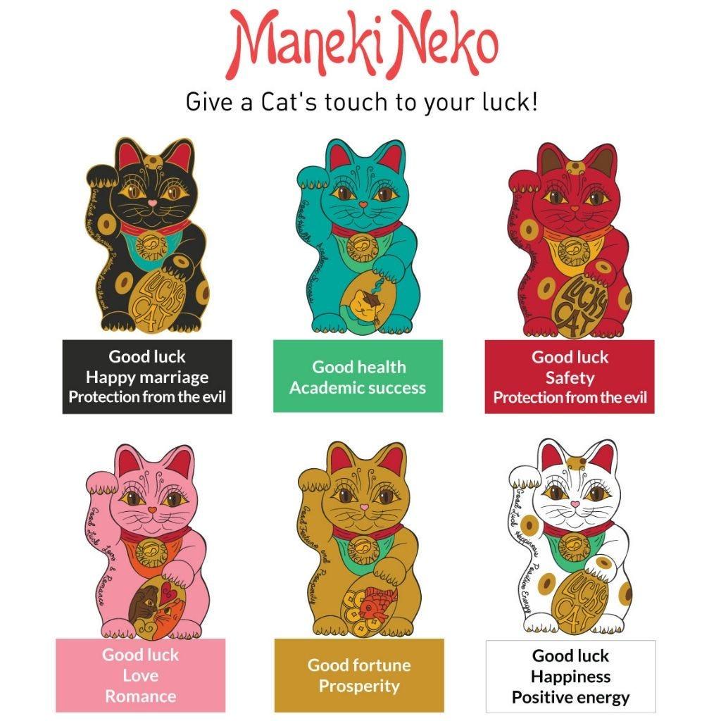 Caneca Maneki Neko Dourado
