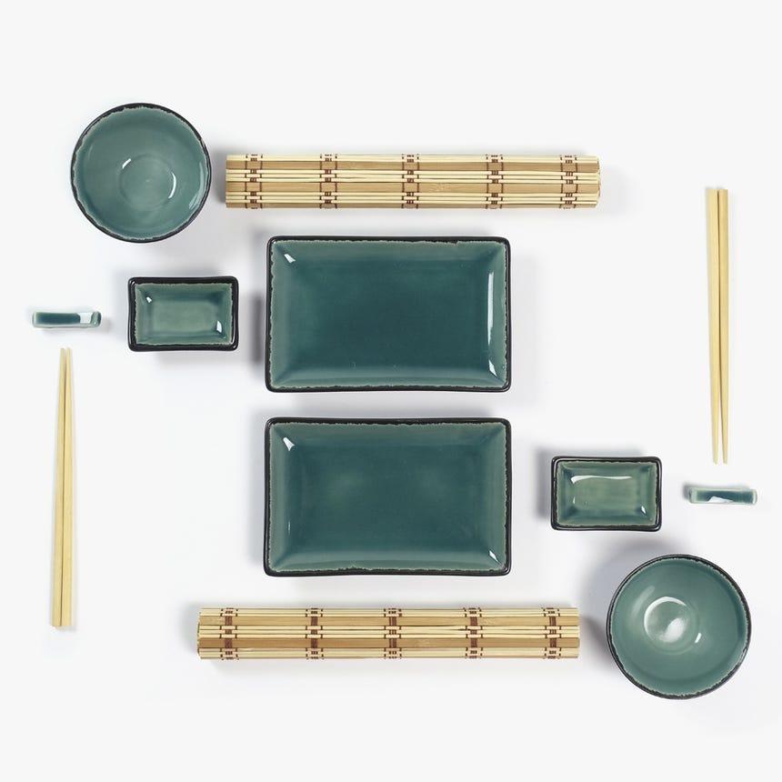 Conjunto Sushi Verde (12 peças)