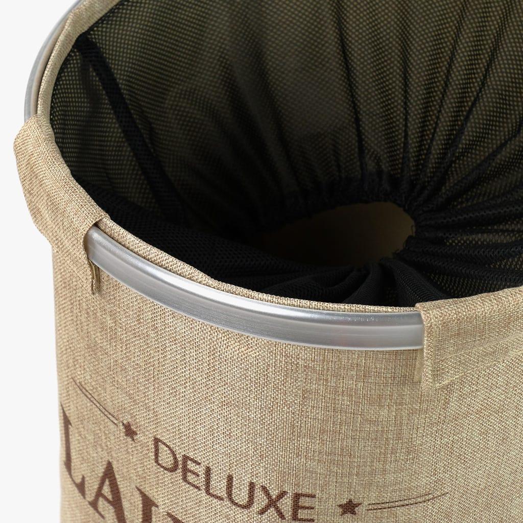 Cesto Roupa Deluxe Bege 38x54 cm
