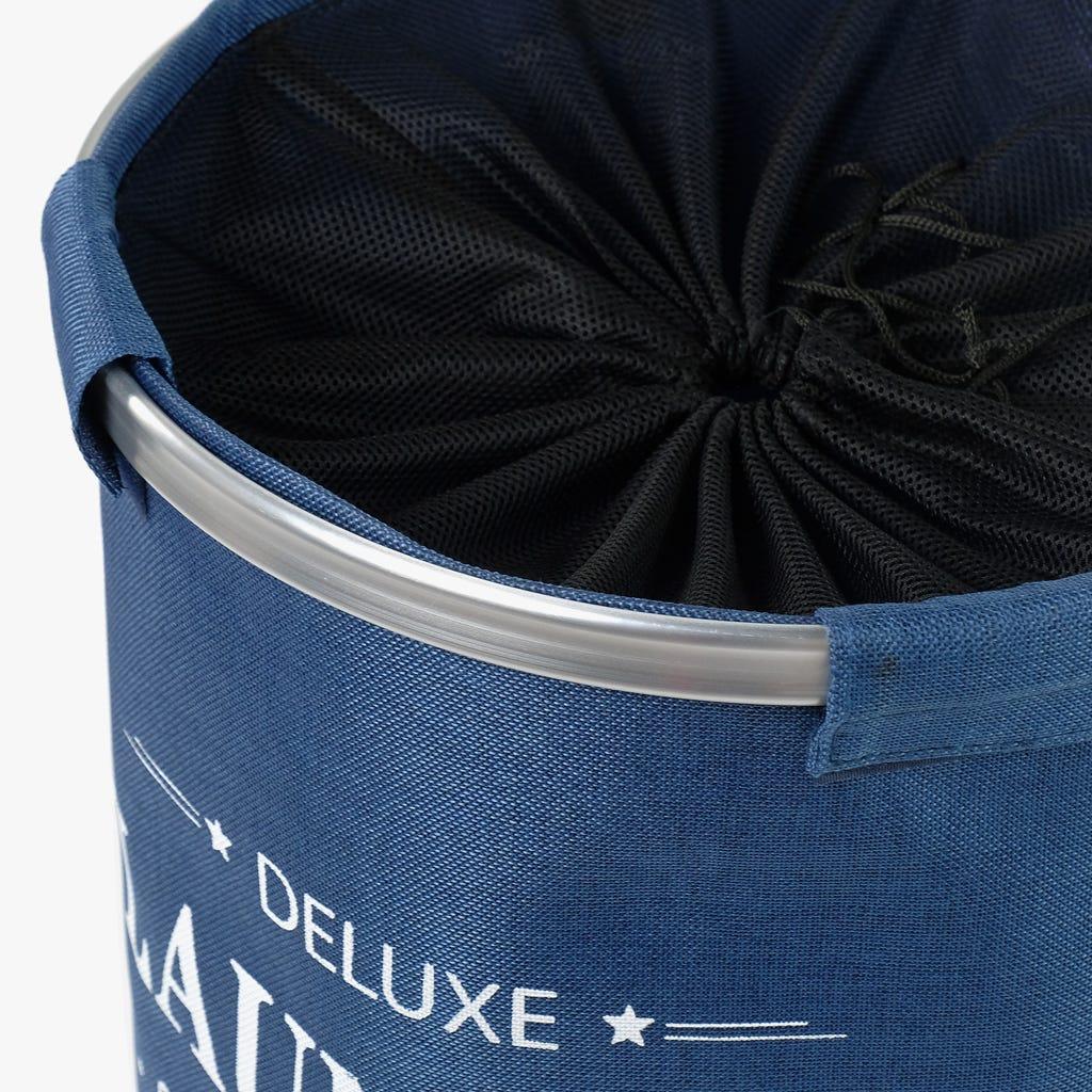 Cesto Roupa Deluxe Azul 38x54 cm