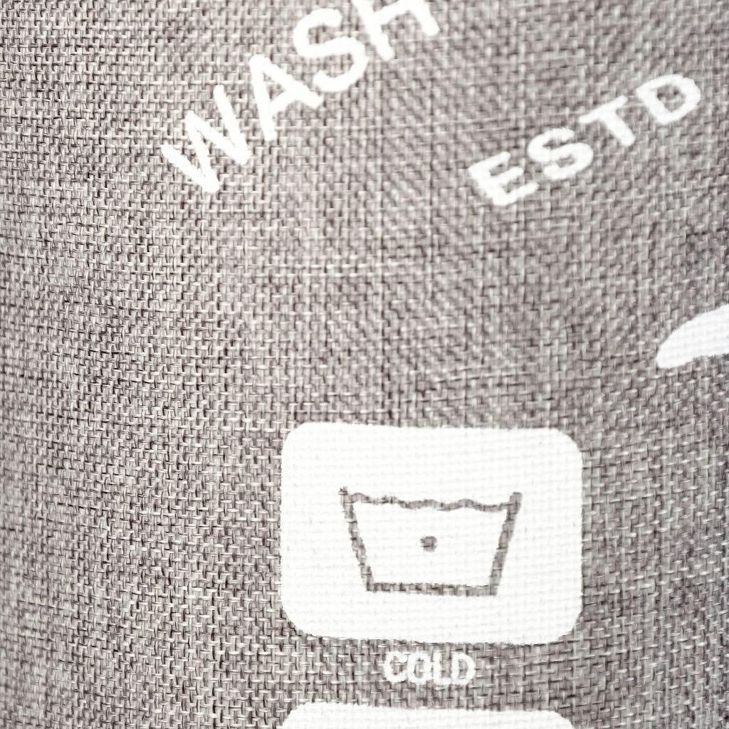 Cesto Roupa Symbols Laundry Cinza
