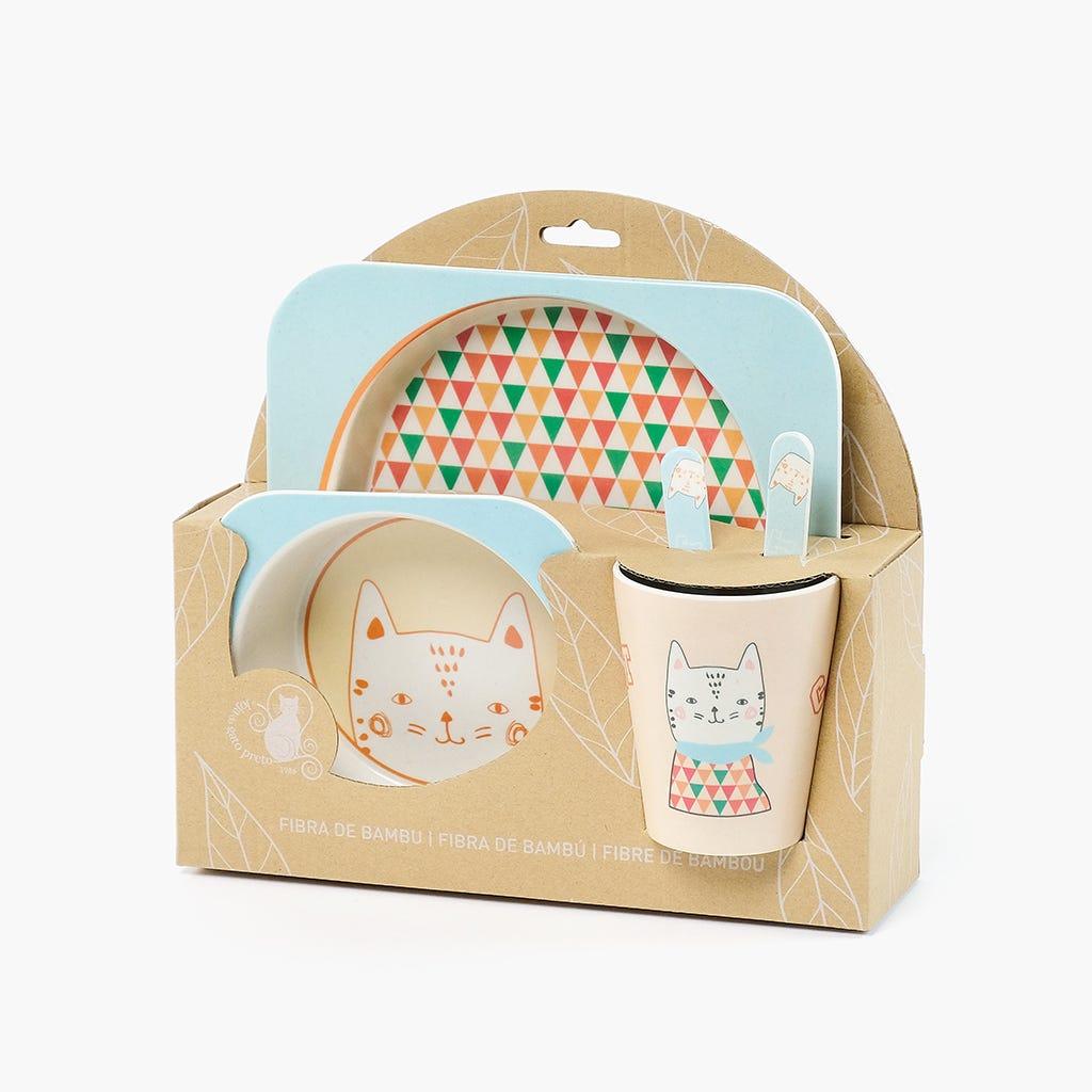 Conjunto para Refeição de Criança Gato (conjunto5)