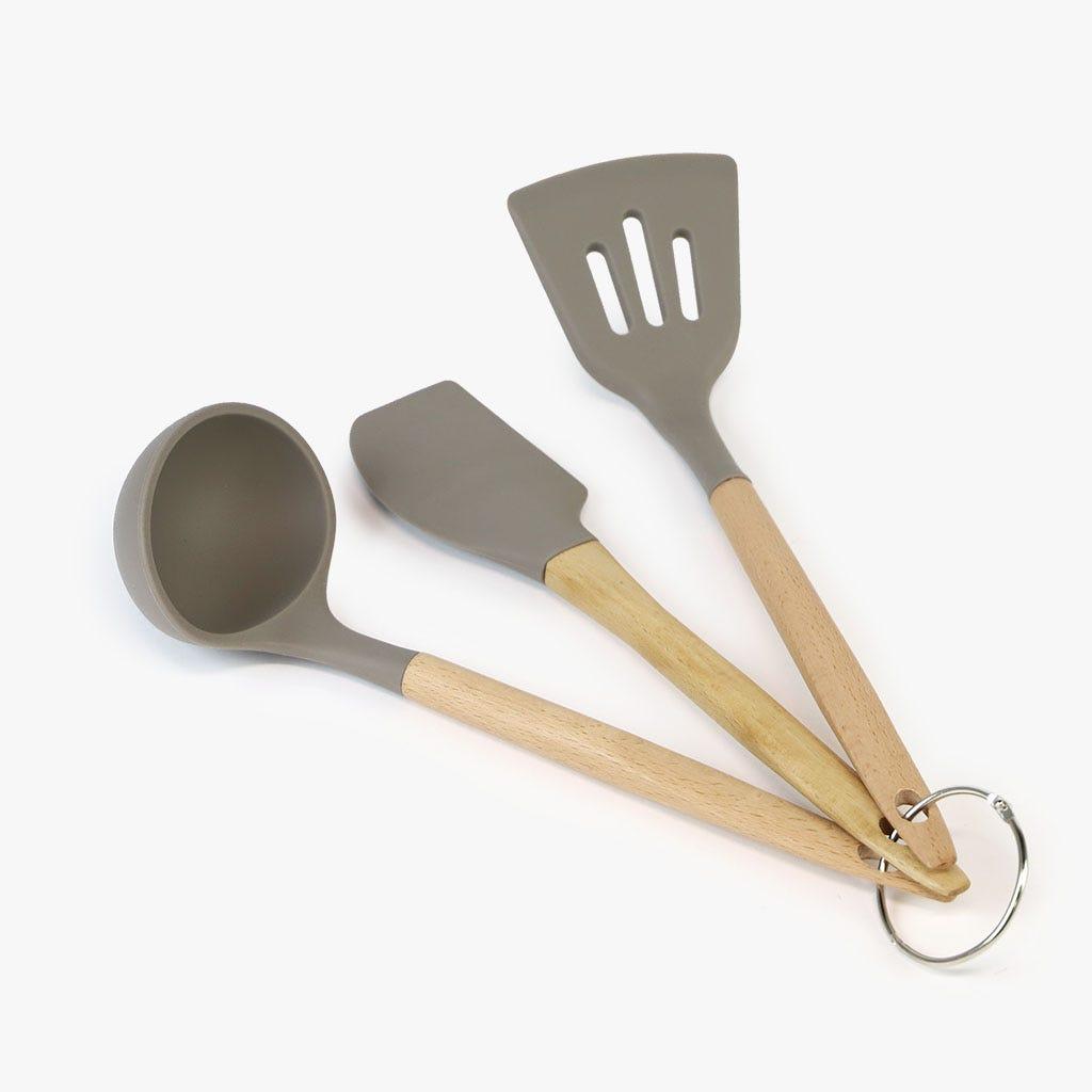 Utensílios de cozinha Cinza (conjunto3)