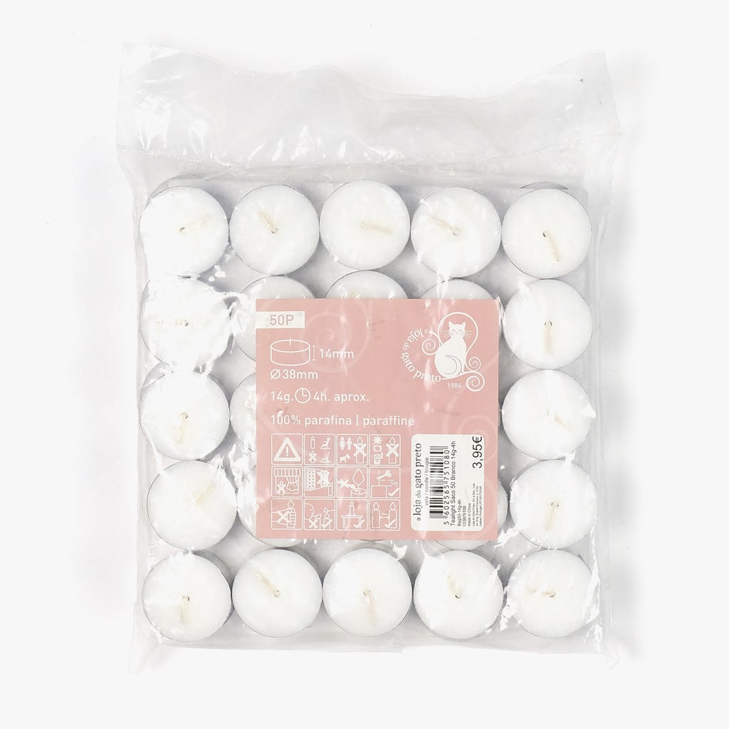 Tealights Brancos (conjunto50)