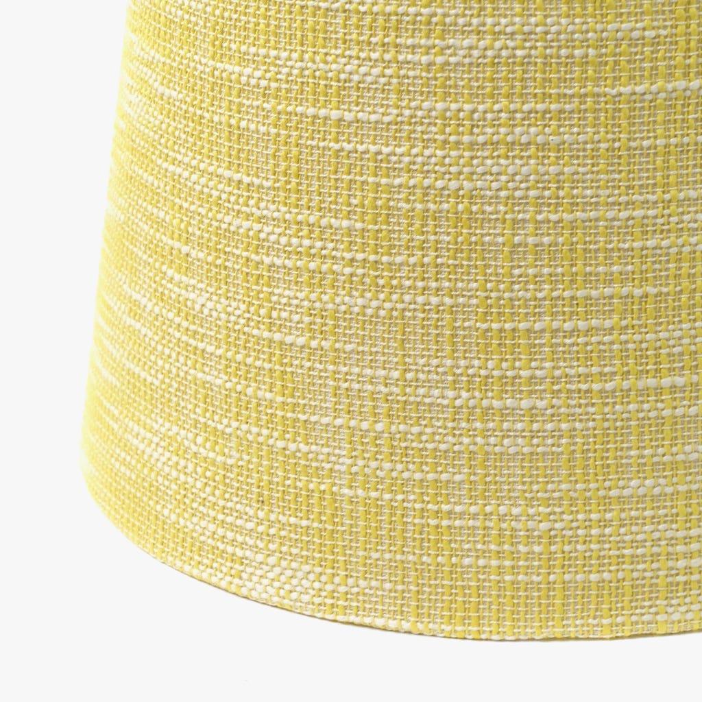 Abatjour Long Drum Algodão Amarelo D: 25cm