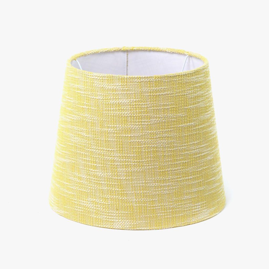Abatjour Long Drum Algodão Amarelo D: 35cm