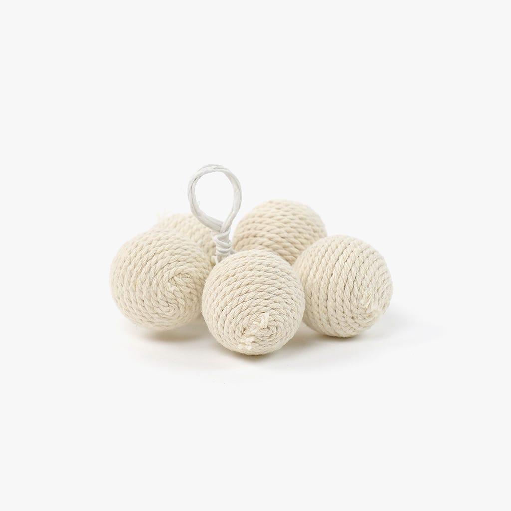5 Bolas Algodão Branco 6,5 cm