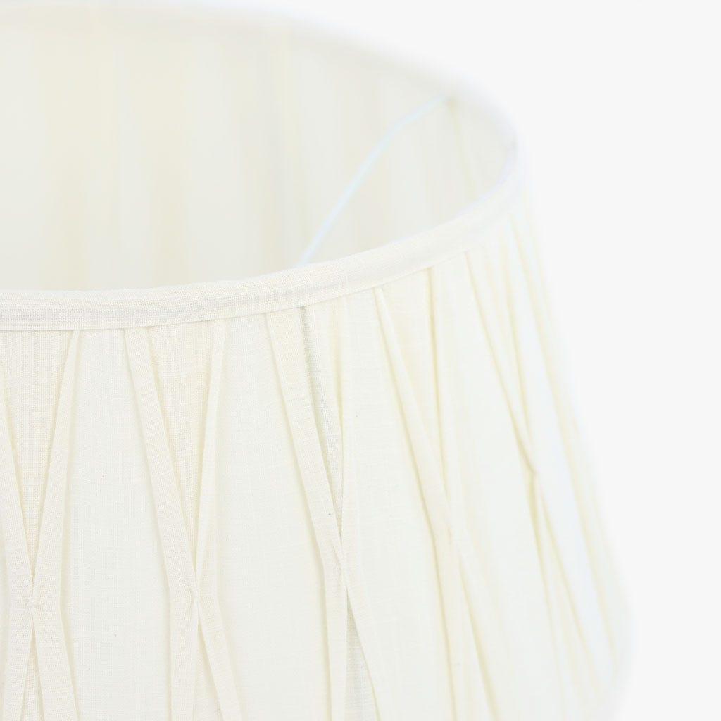 Abatjour Oval Algodão Branco D: 40 cm