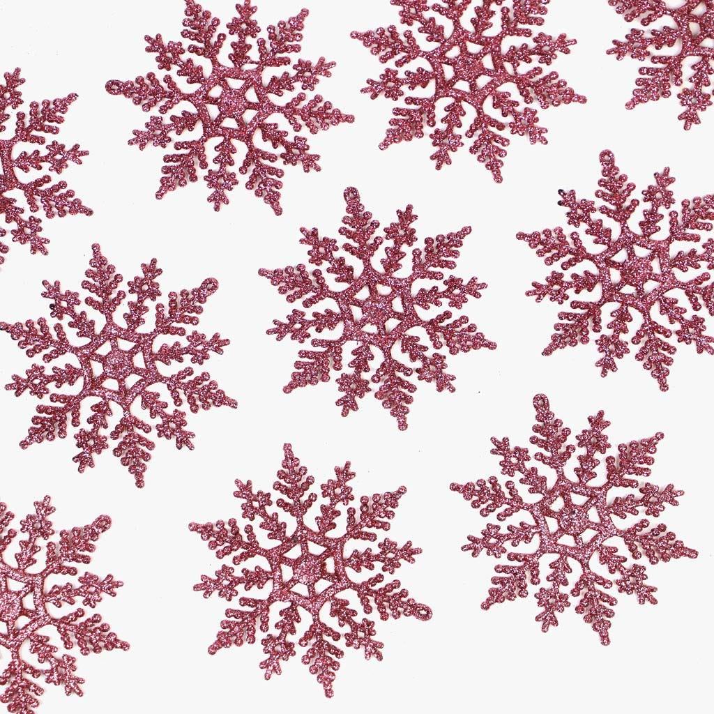 Flocos de Neve Rosa (conjunto12)