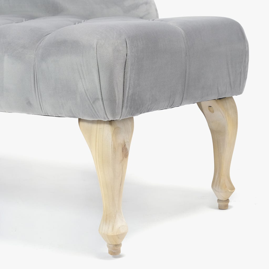 Chaise Longue Cinza 119x69 cm