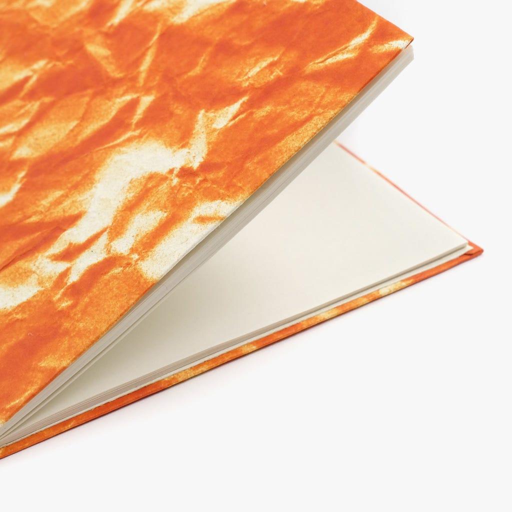 Caderno de notas Céu Laranja 13x18 cm