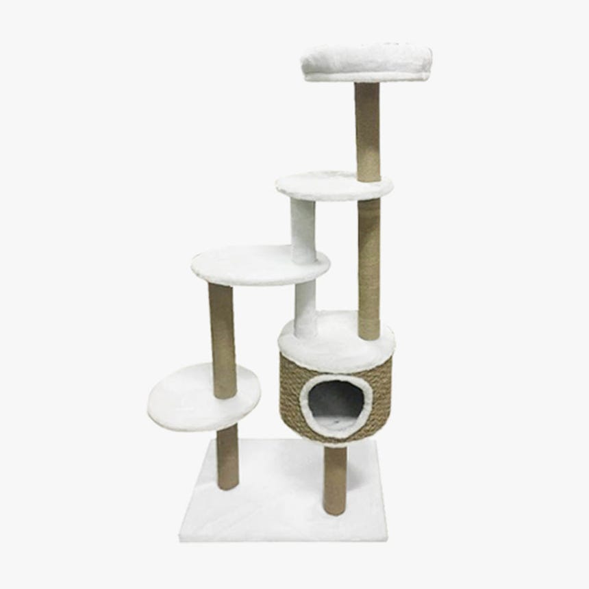 Ginásio para Gatos Bege60x40x148 cm