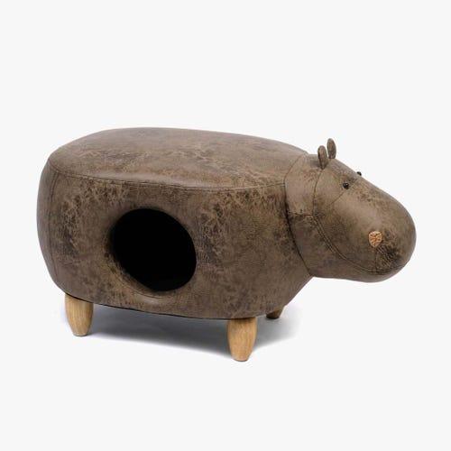 Cama para animais Hipo castanho82x45x42 cm