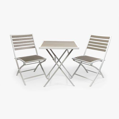 Mesa + 2 Cadeiras Lombok Branco