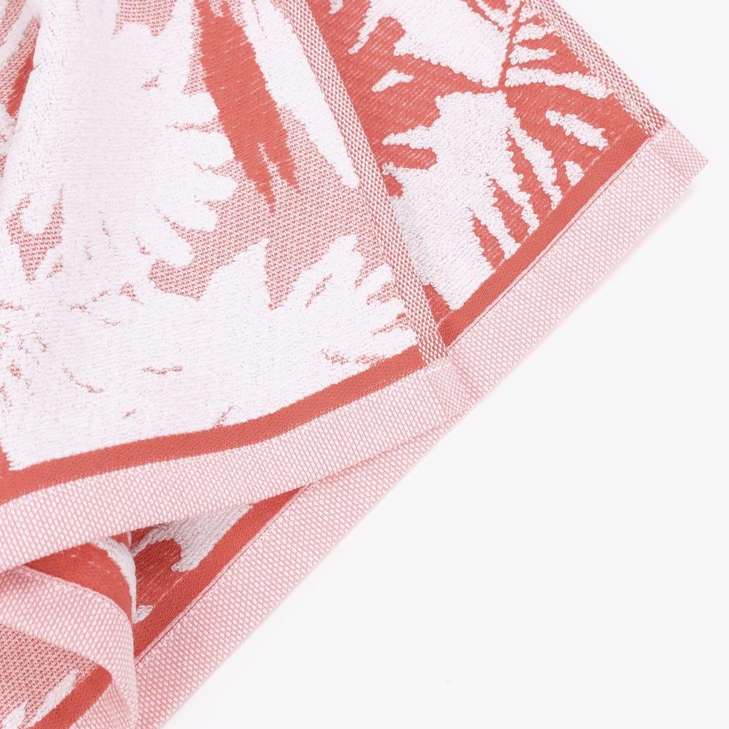 Toalha de Banho Folhas Coral 30x50 cm