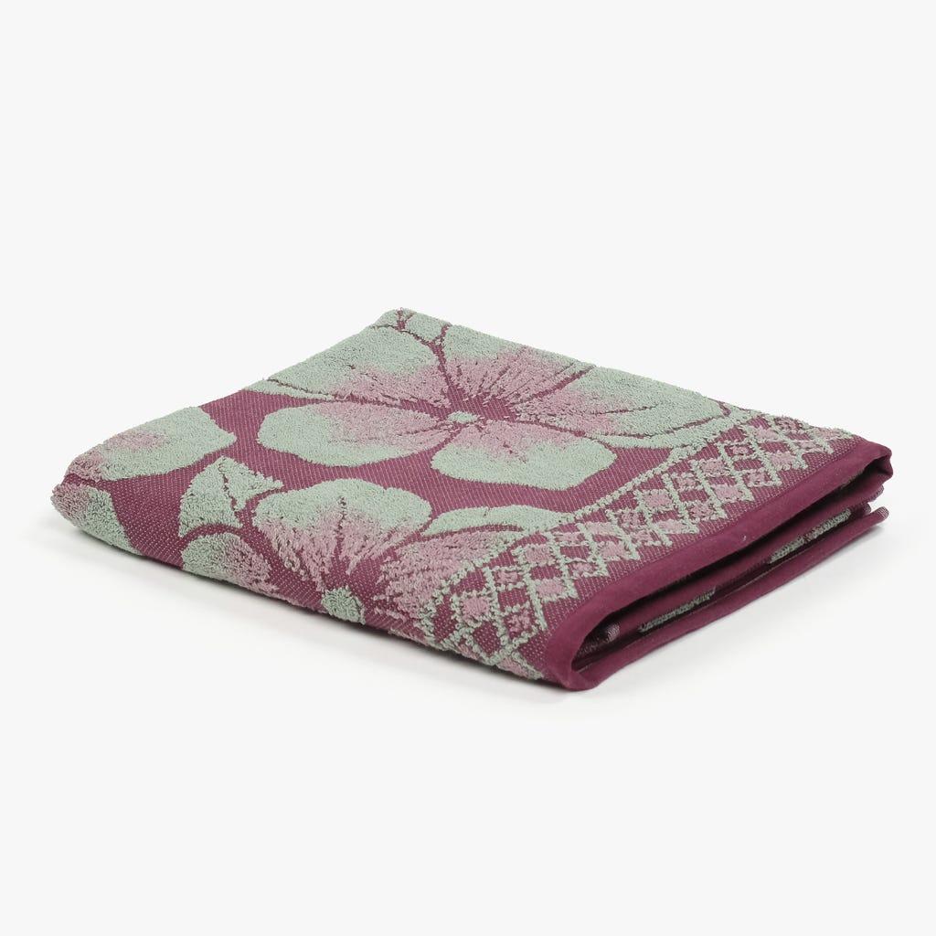 Toalha de Banho Flores Bordeaux 90x150 cm