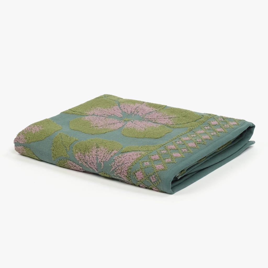 Toalha de Banho Flores Verde 90x150 cm
