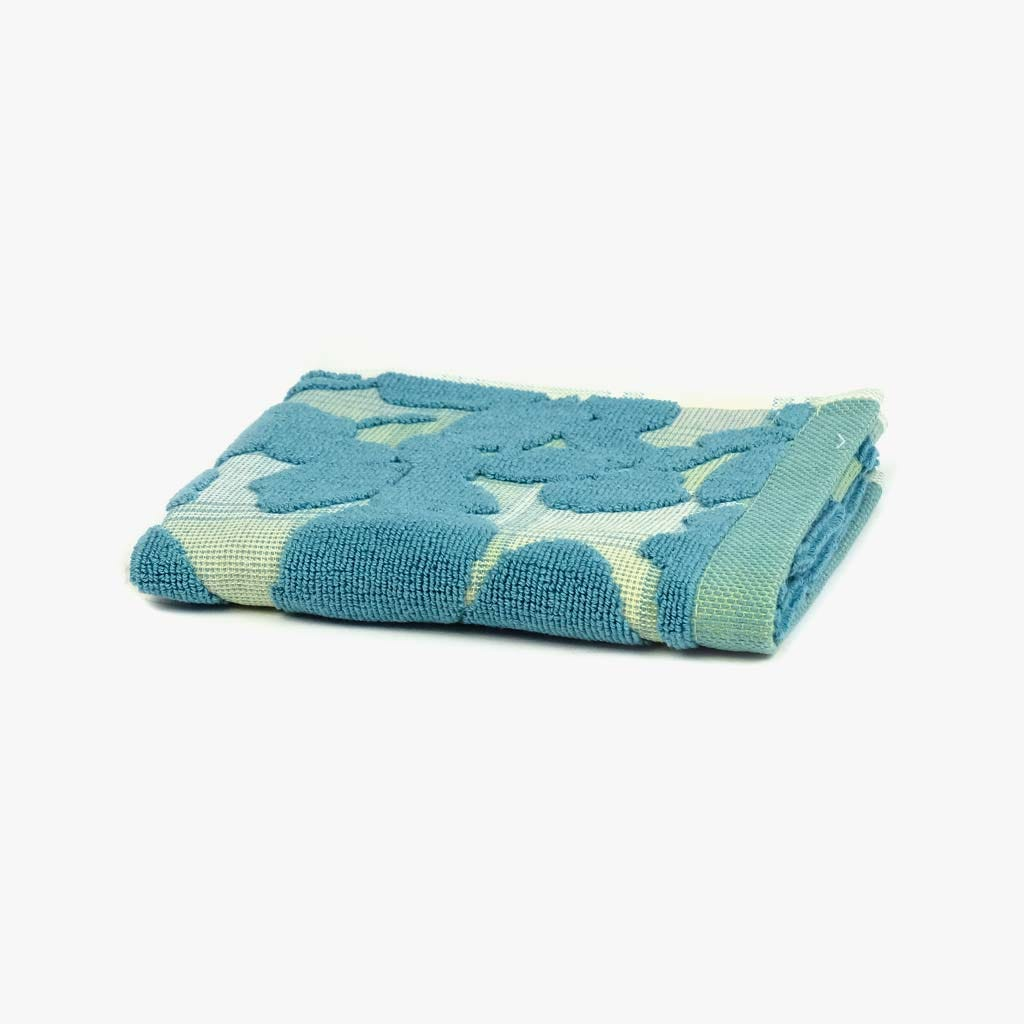 Toalha de Banho Flores/Xadrez Verde 30x50 cm