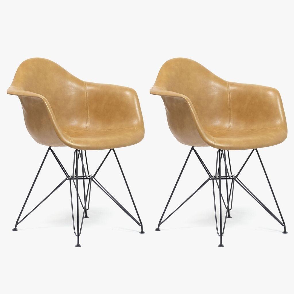 Cadeira Ray Castanha 64x64,5x81 cm (conjunto 2)