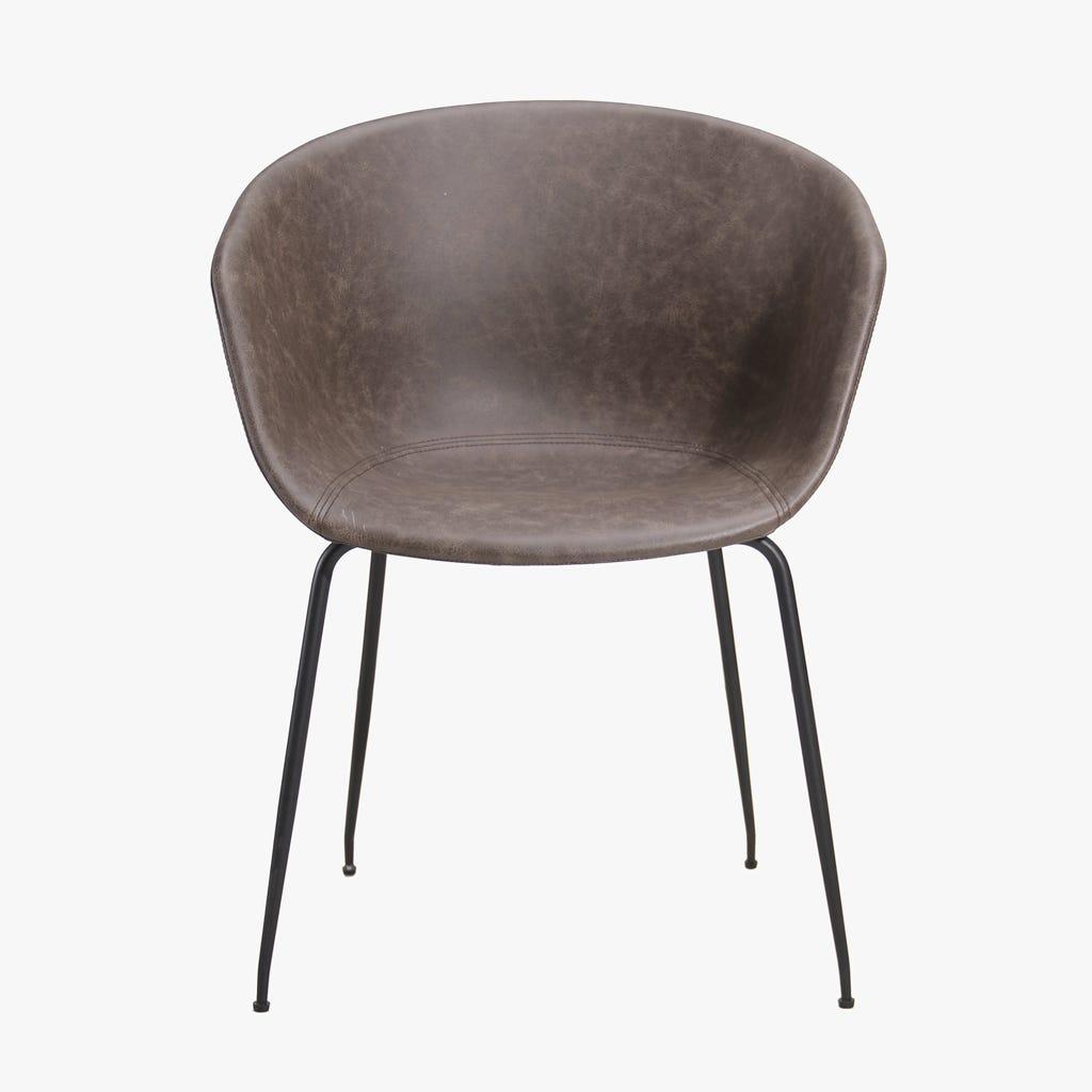 Cadeira Graz Castanha 43x51x77,2 cm (conjunto 2)