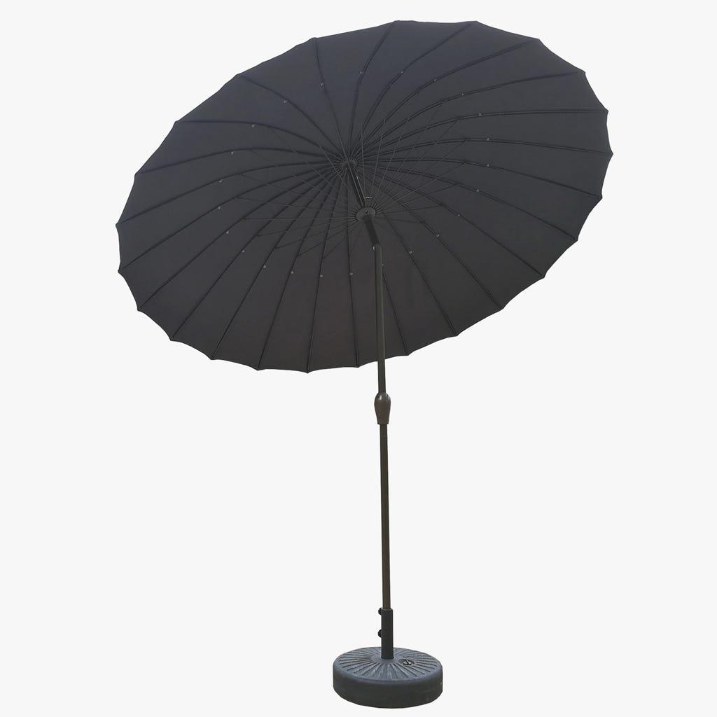 Chapéu de Sol com 24 varetas Cinza D:270 cm