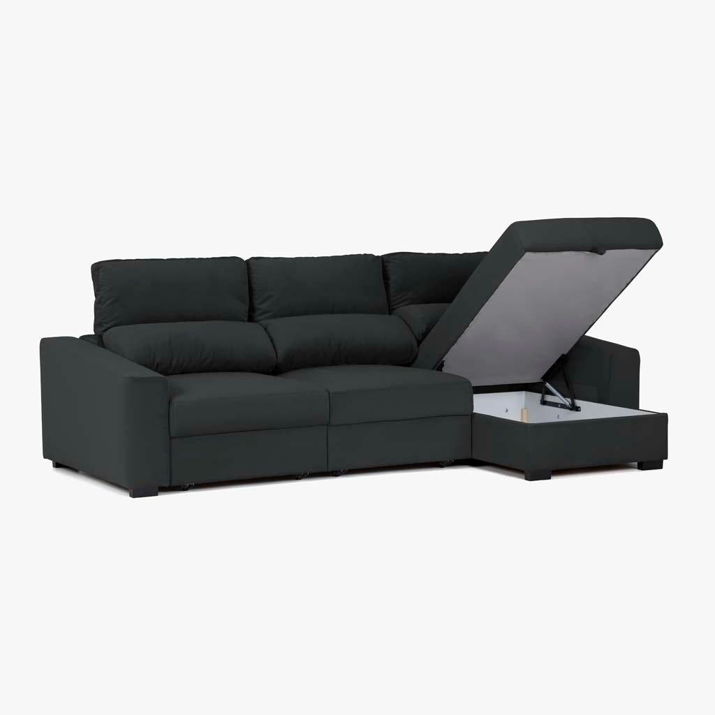 Sofá com Chaise Longue Ruffalo Antracite