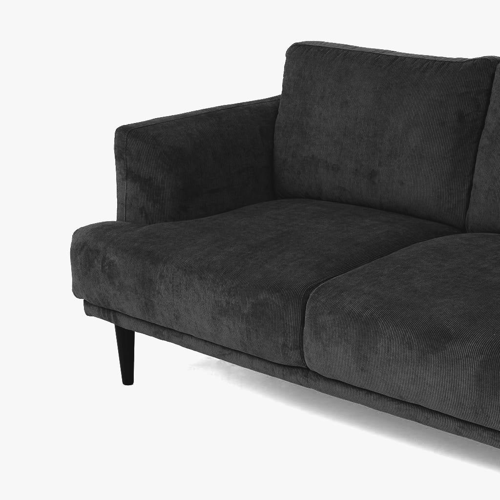 Sofá Kidman Cinzento 224x88x83 cm