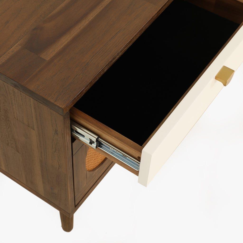 Mesa de cabeceira Florida Branca 50x40x55 cm