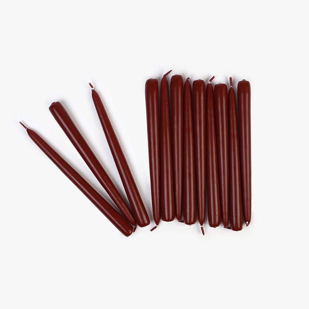 Vela Vermelho 24 cm (conjunto12)