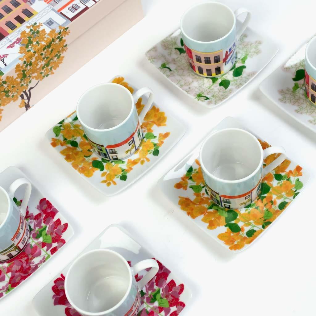 Chávena de Café Buganvília (conjunto6)