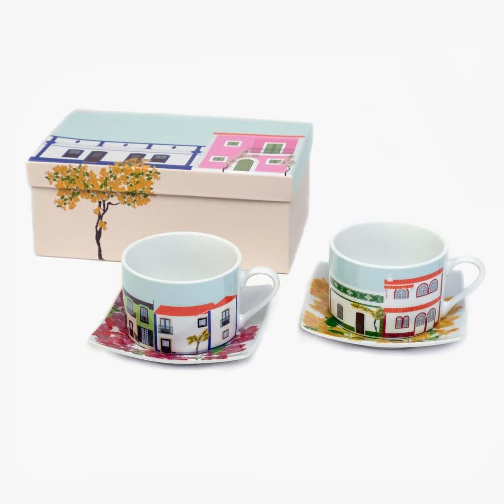 Chávena de Chá Buganvília (conjunto2)