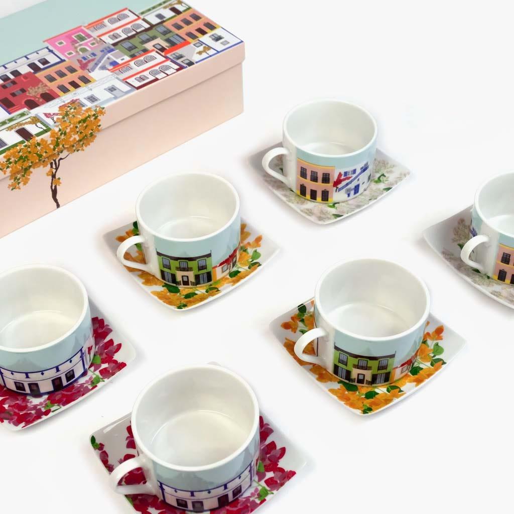 Chávena de Chá Buganvília (conjunto6)