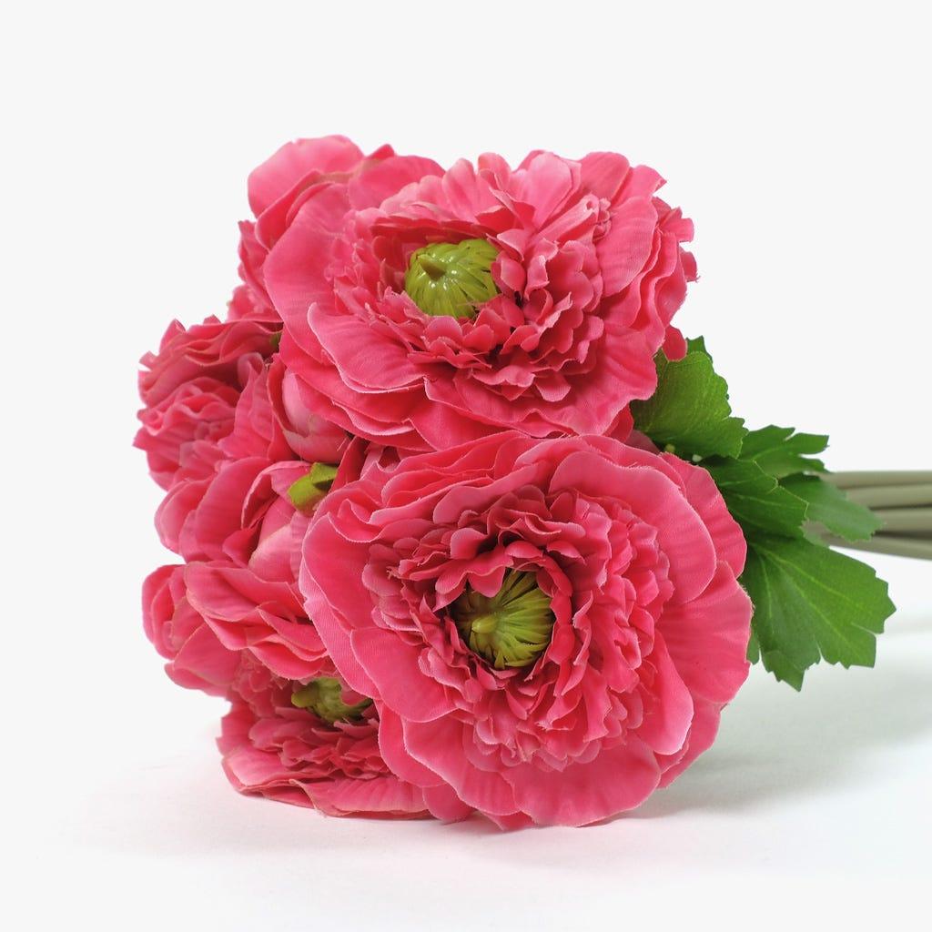 Ramo de Camélias Rosa escuro 25 cm