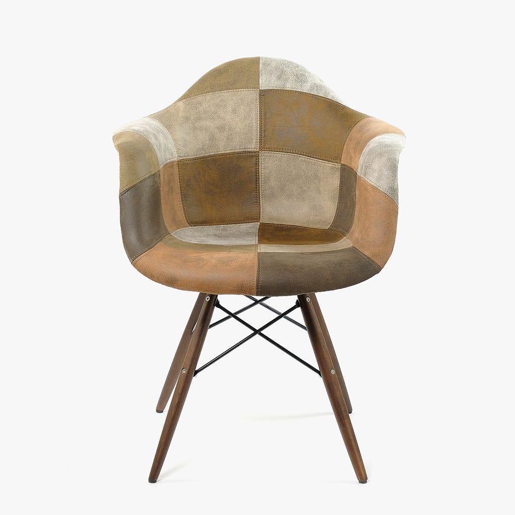 Cadeira Siena Brown Patchwork