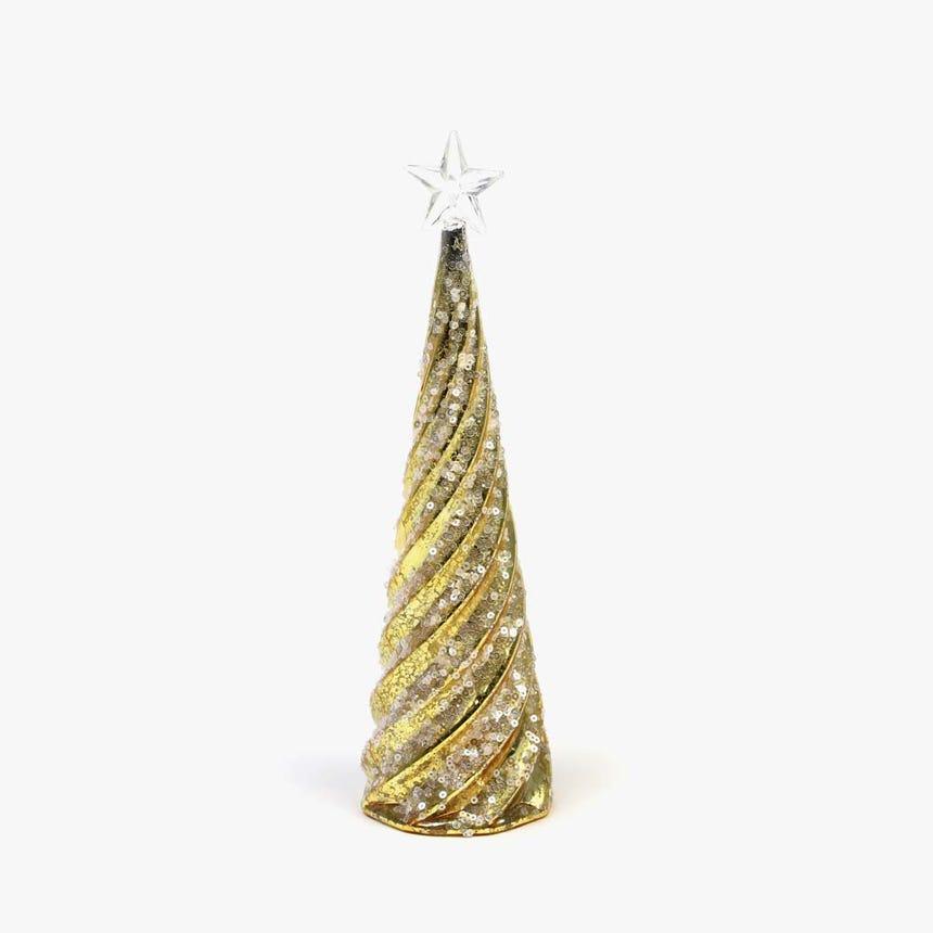 Árvore de natal com Luz Dourada 28 cm