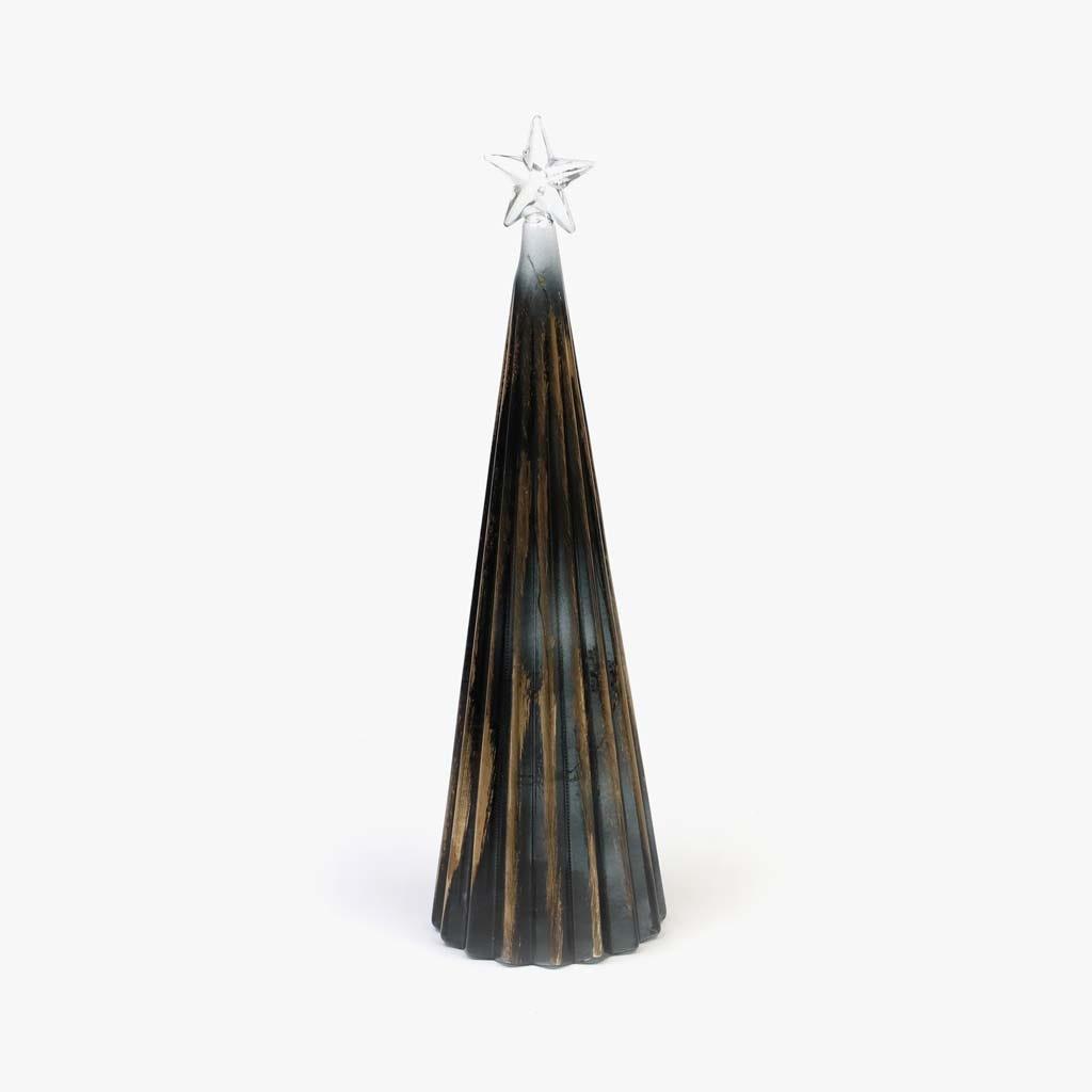 Árvore de natal Estrela com Luz Preta 31 cm