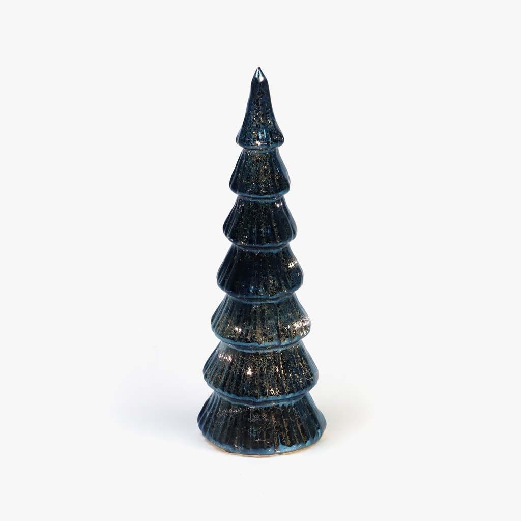 Árvore de natal com Luz Preta 31 cm