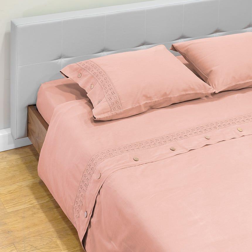 1 Saco de Edredão +1 Lençol + 2 Fronhas Paris Rosa 240x220cm