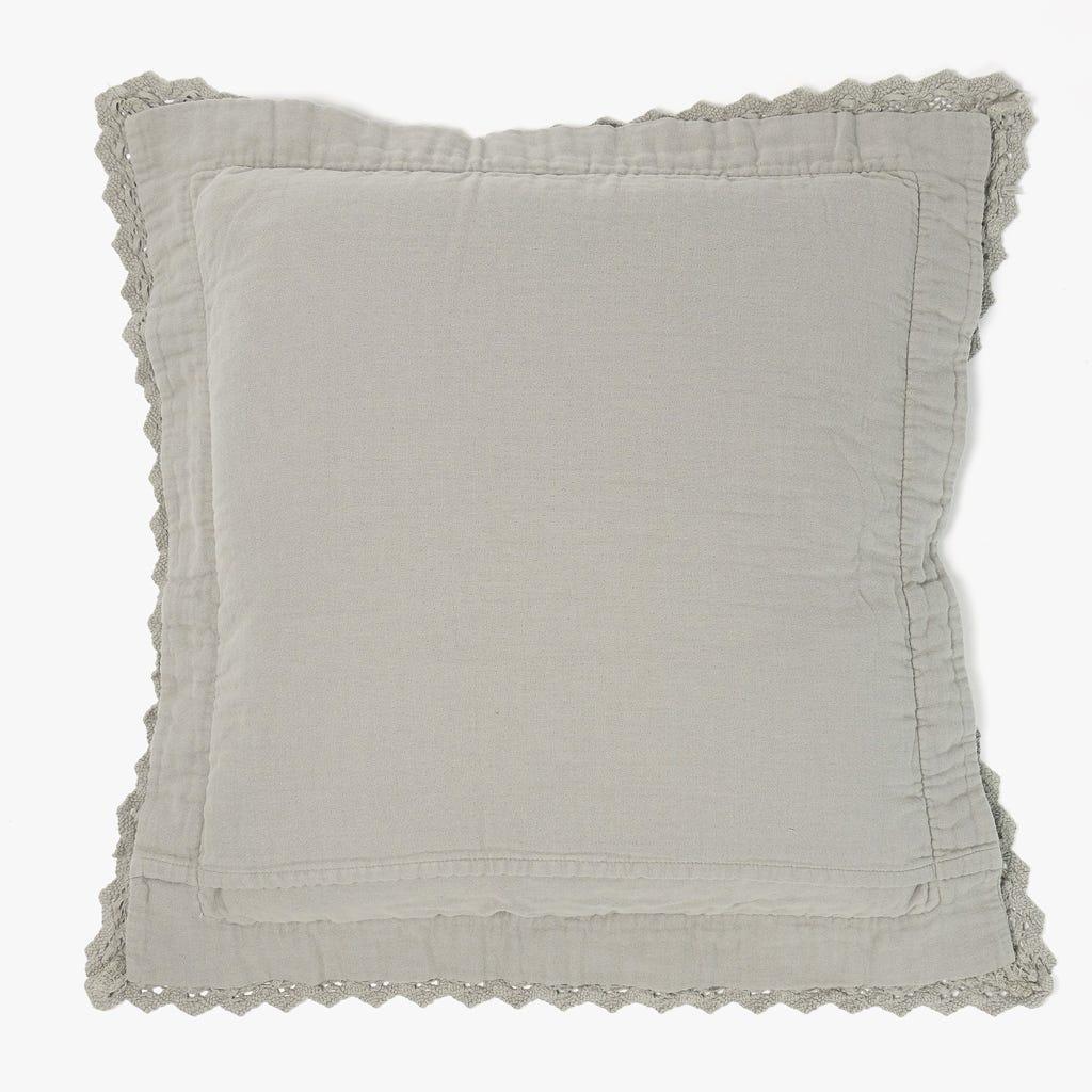 Capa de almofada Renda Cinza 50x50 cm