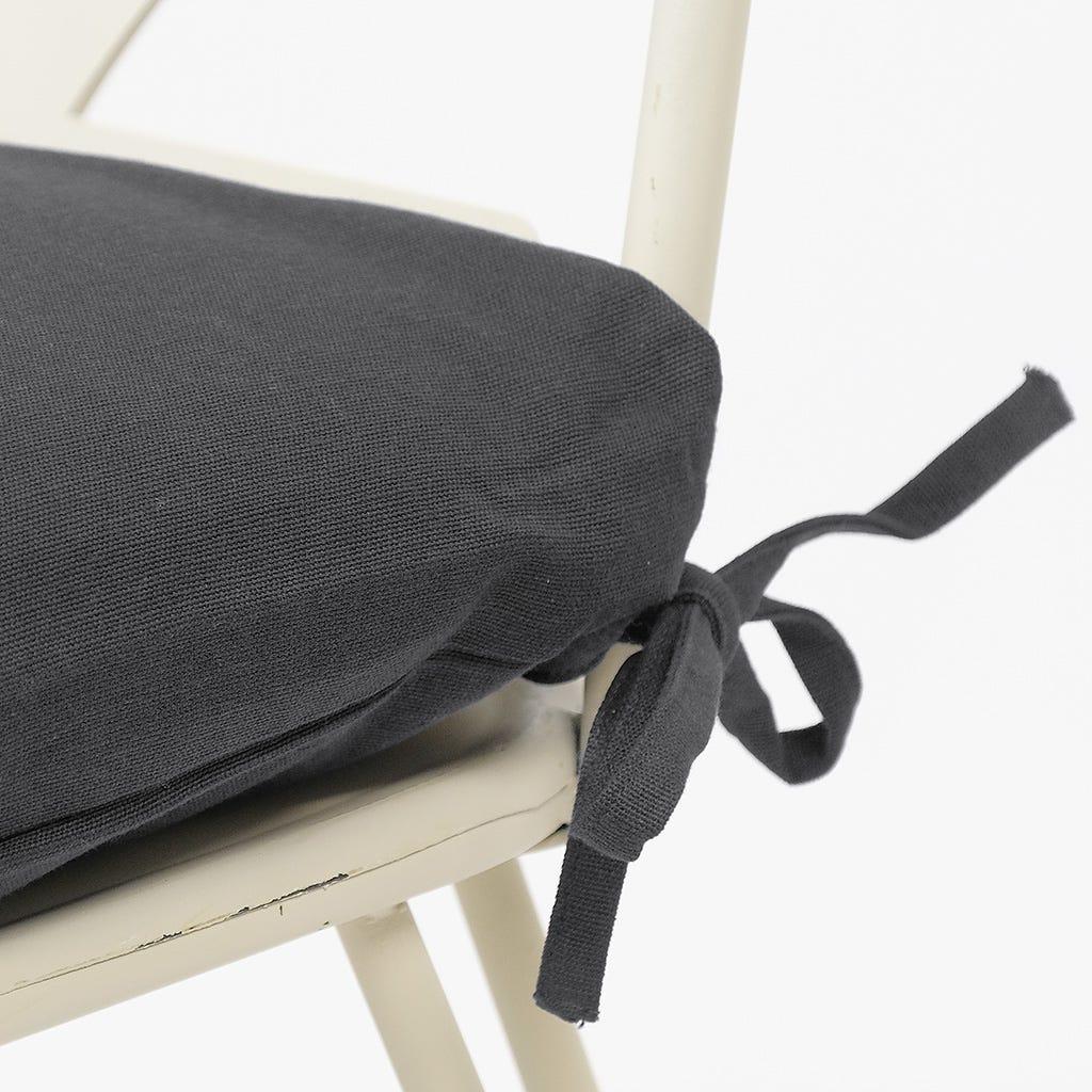 Capa de Almofada paraCadeira Preto 40x40 cm