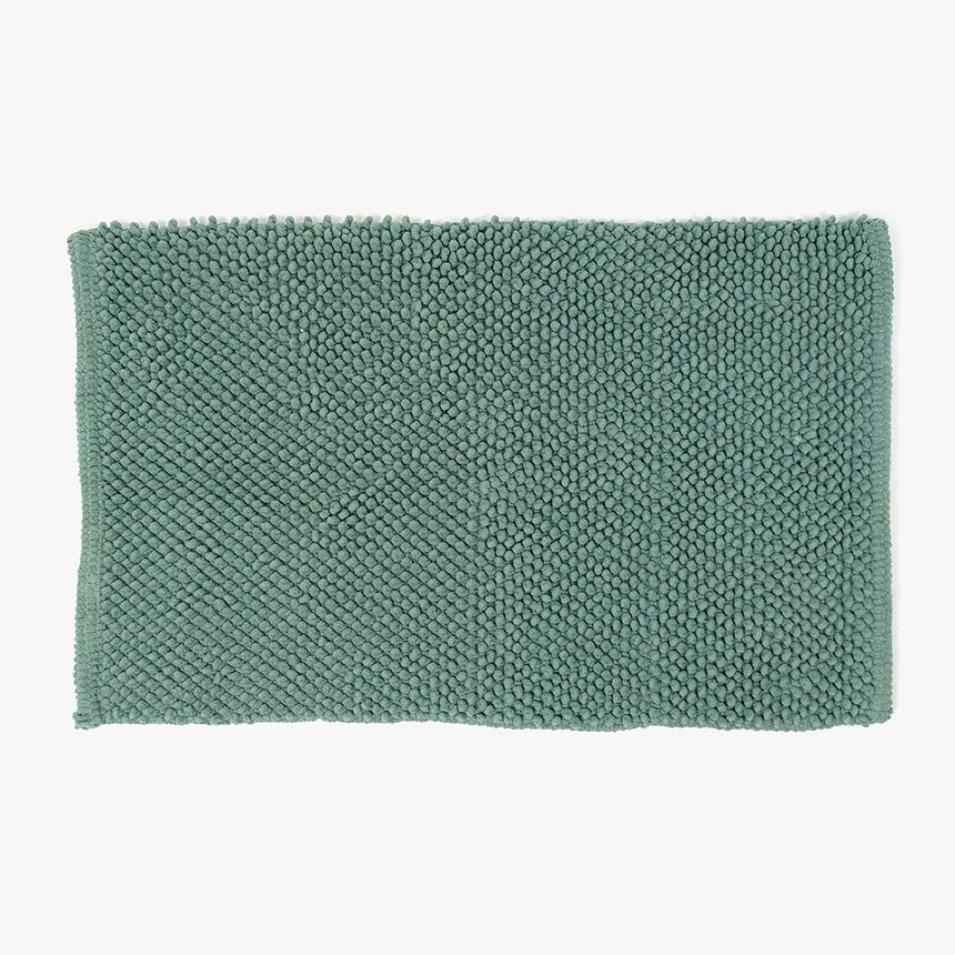 Tapete de Banho Pompom Verde 50x80 cm