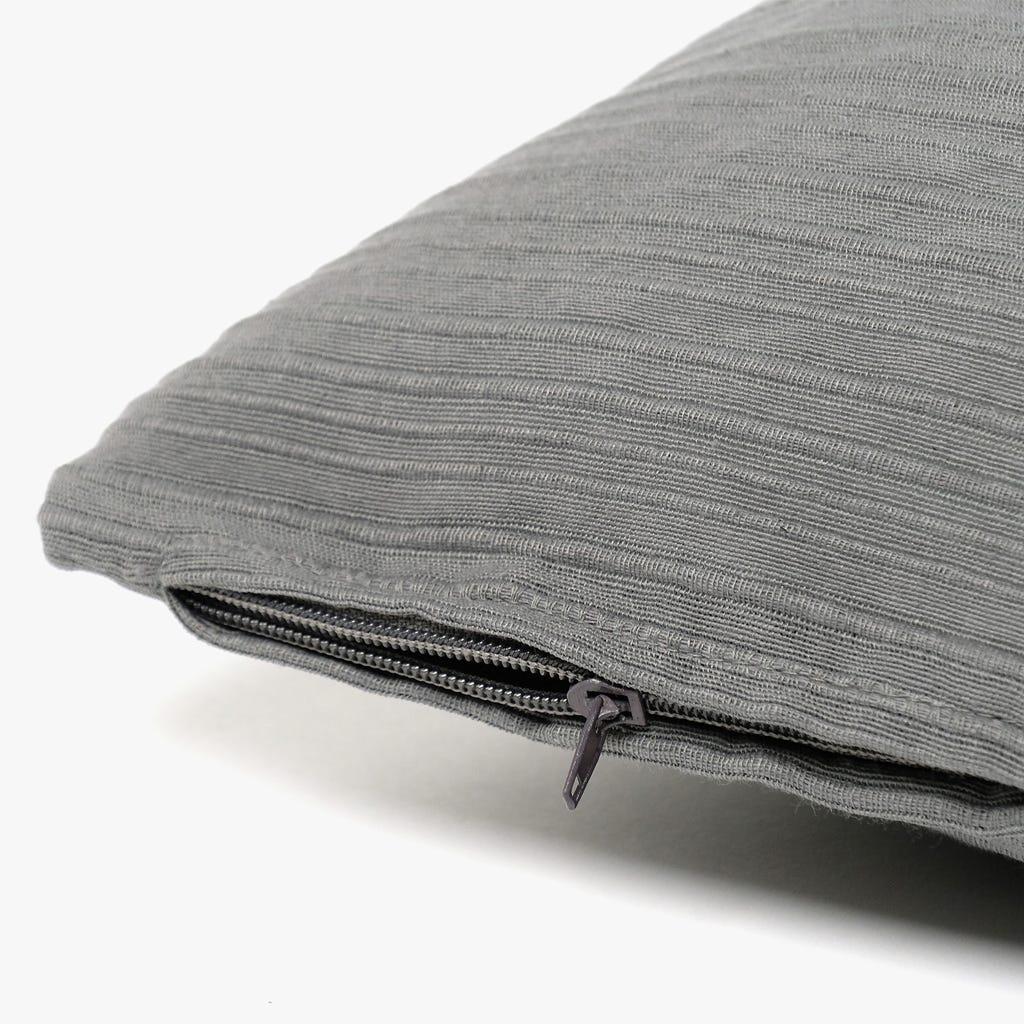 Capa de Almofada Cinzento 65x65+1,5 cm
